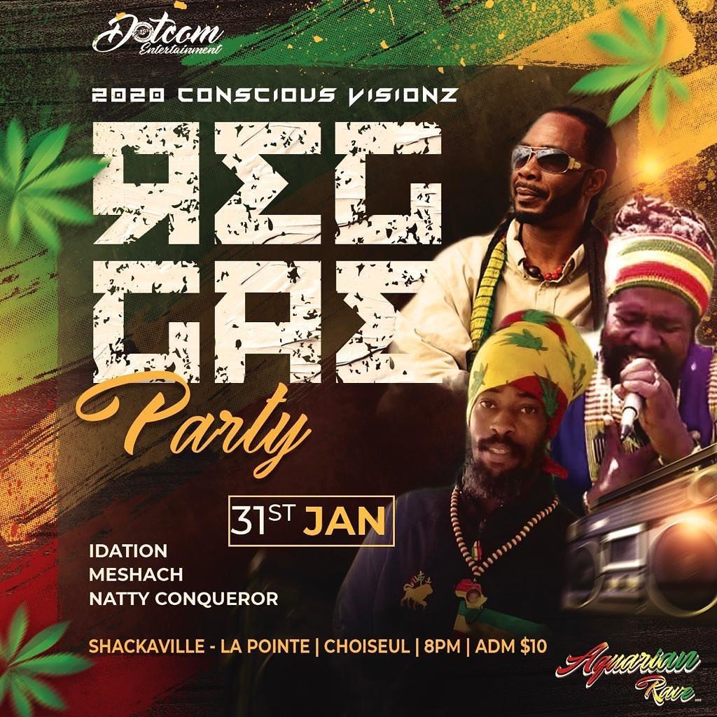 2020 Conscious visions reggae party