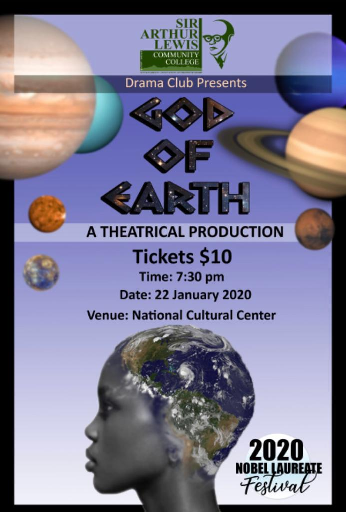 Play written, directed and produced by the students of the SALCC. In the harsh abyss of space, the God of Earth one day (Earth day) manages to create life on her planet; the first in the universe. The other gods, disgusted by her creations, ultimately ends up of punishing her, causing her to live amongst her very creations, as a human. National Cultural Centre, Barnard Hill, Castries, 7:30 p.m. Contact: Mrs Kathy Birch-McDiarmed | kbirchmcdiarmed@apps.salcc.edu.lc | 457- 5238