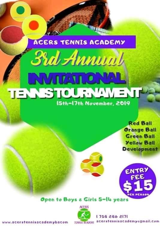 acers tennis club invitational tournament - babonneau Saturday 1st Feb 9am - 5pm