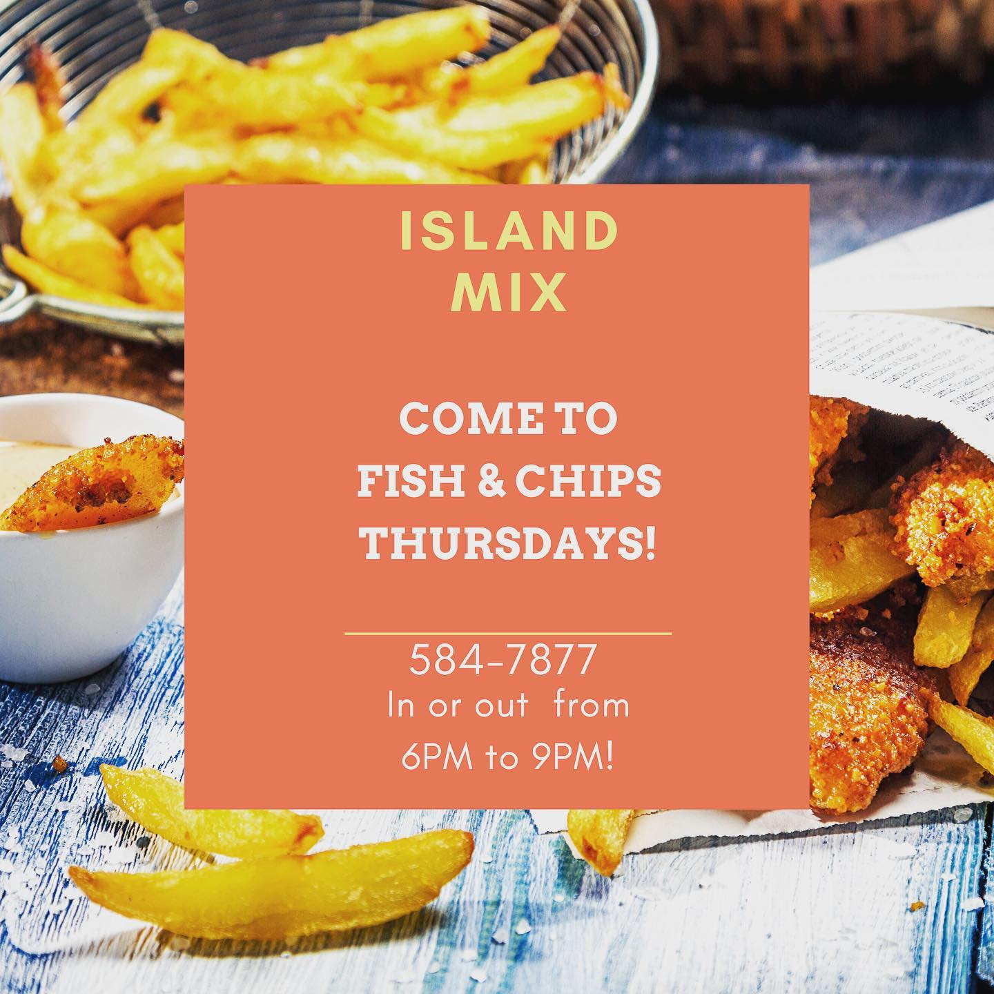 delicious fish & chips - just US$10 / EC$25 at island mix