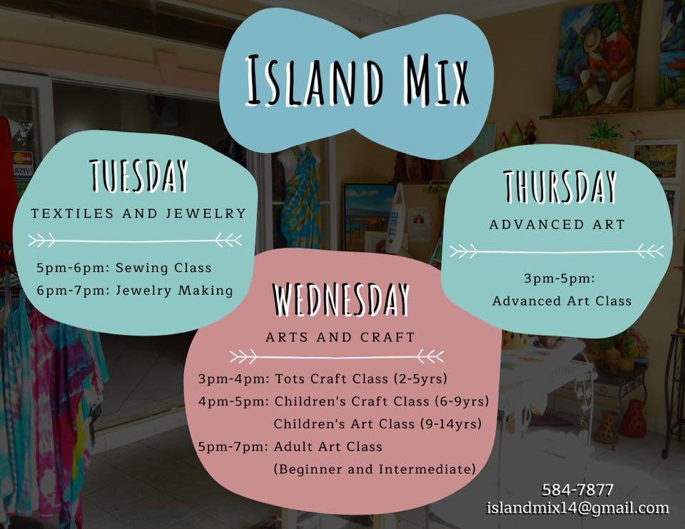 island mix art craft sewing and jewelry classes