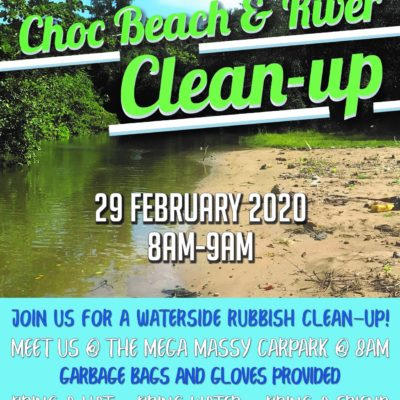 Choc Beach and River clean-up