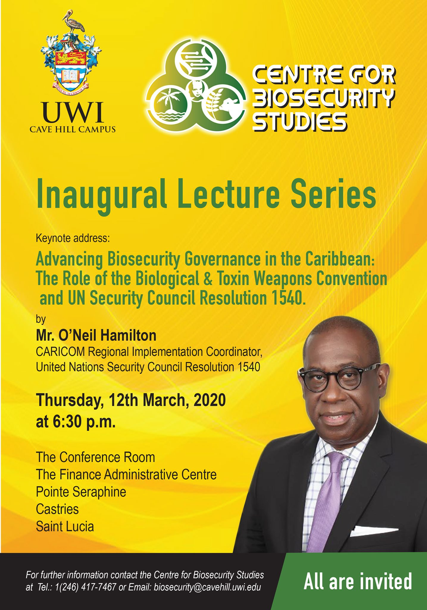 advancing biosecurity governance in the caribbean lecture uwi open campus