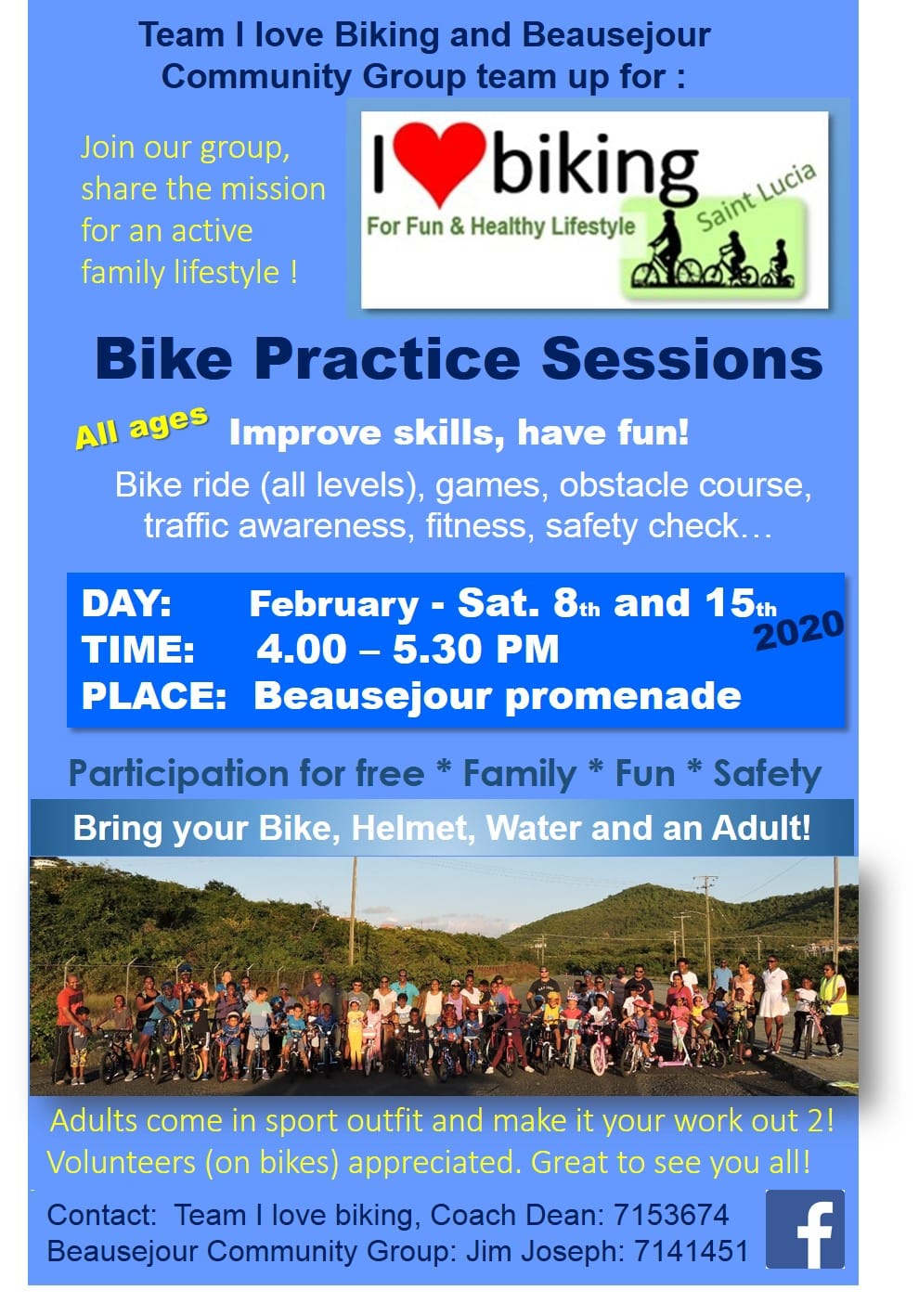 free bike practice sessions for youth at Beausejour Promenade
