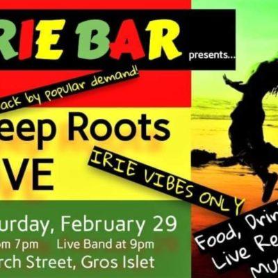 Deep Roots Live @ Irie Bar