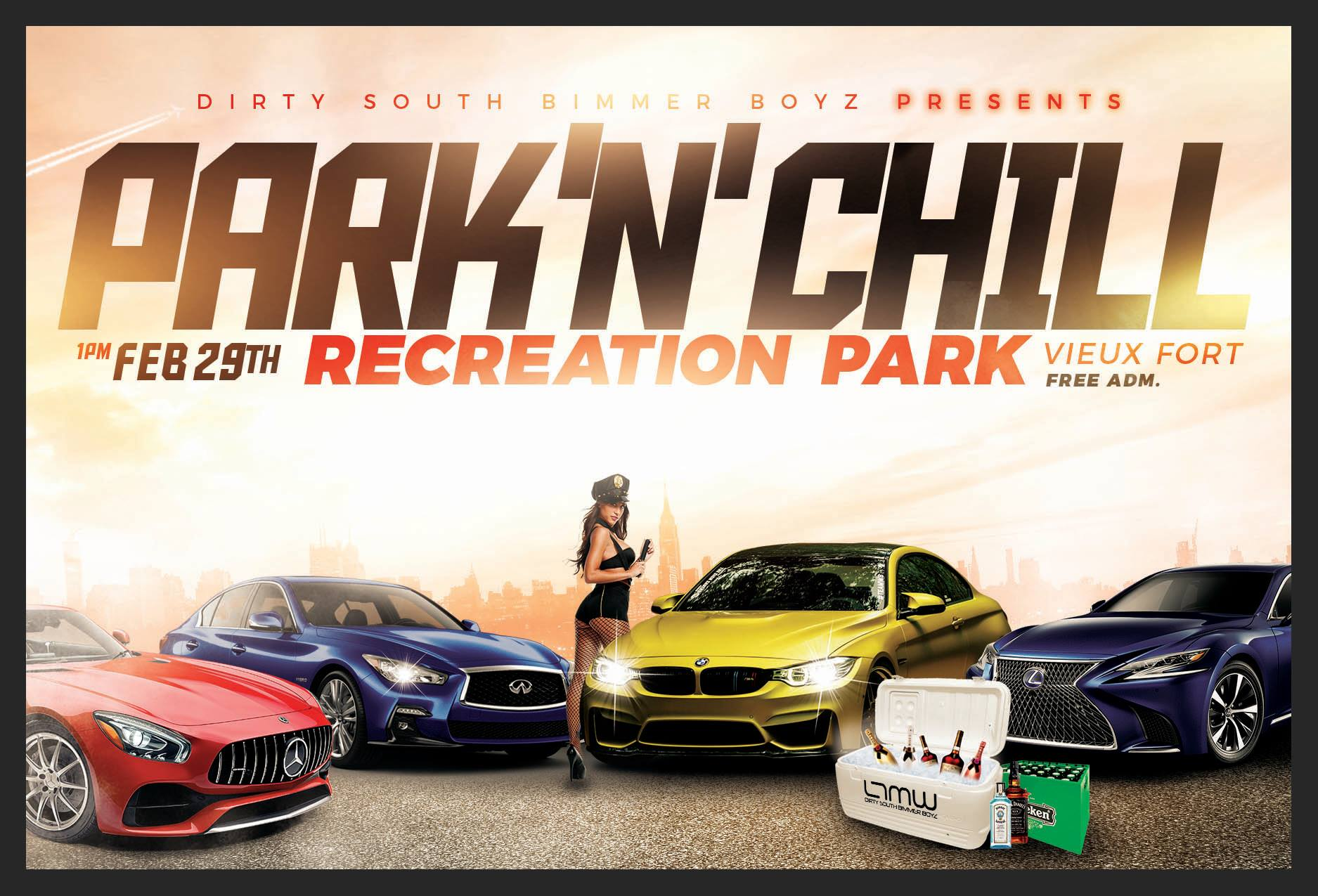 park'n'chill at the vieux fort recreation park