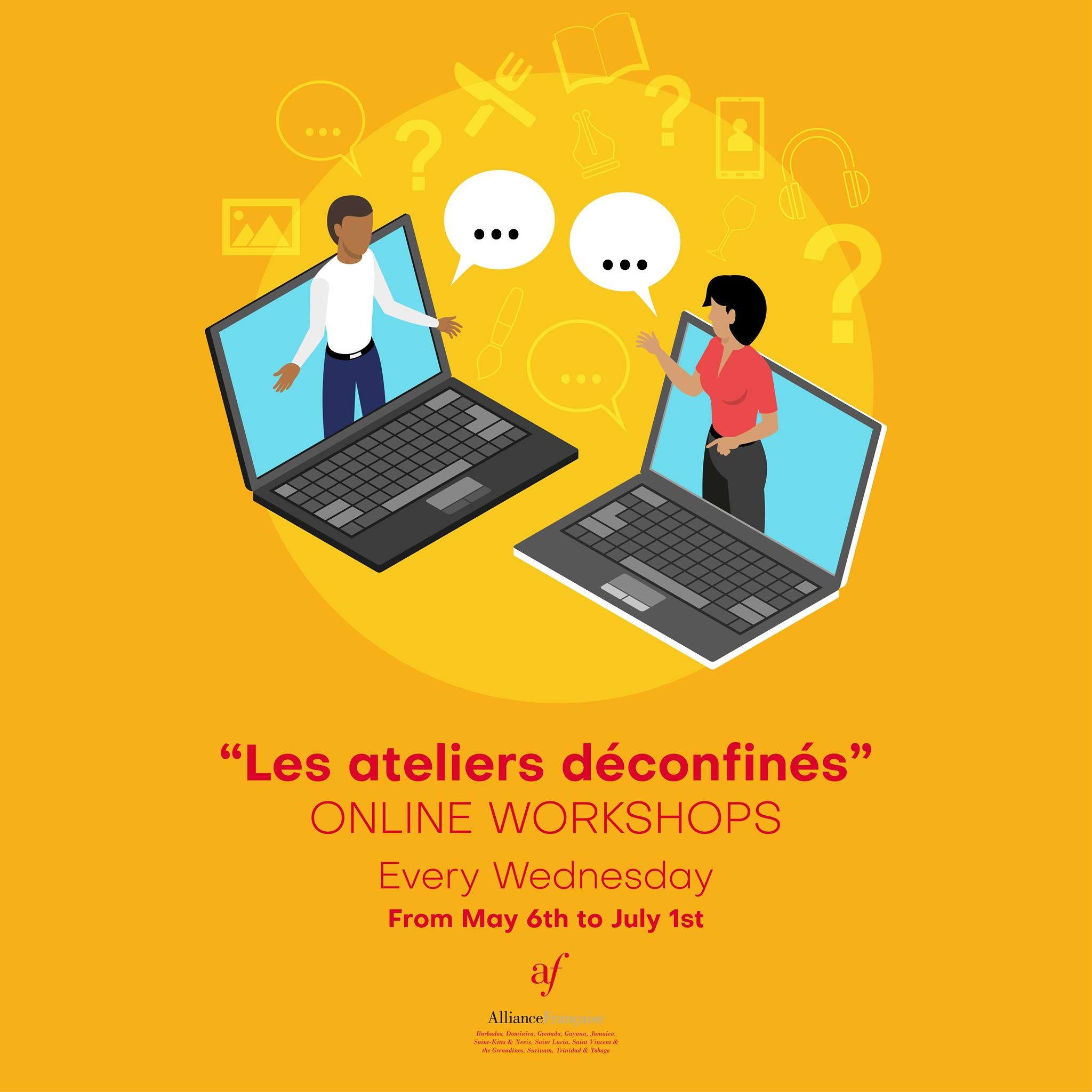 Alliance francaise les ateliers deconfines online workshops every wednesday