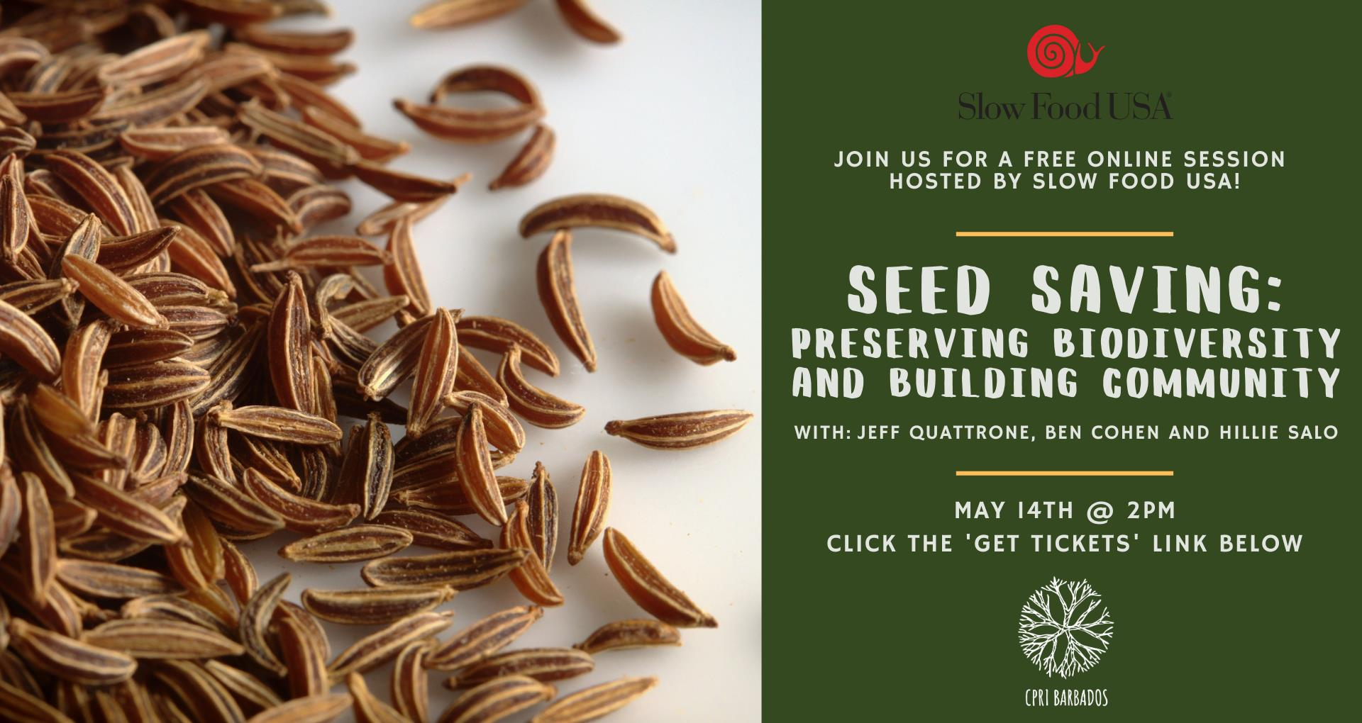 online webinar slow food usa seed saving preserving biodiversity and building community