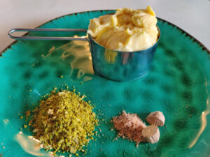 grate nutmeg fresh for the best flavours and dry and shred citrus zest and keep it in the freezer